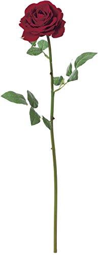 造花 レッド1 全長50cm ベルベットローズ