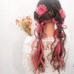 お花を髪に咲かせるフルールヘア