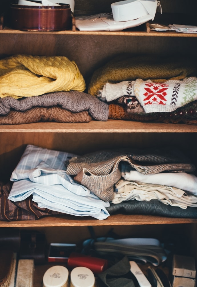 セーターを休ませよう