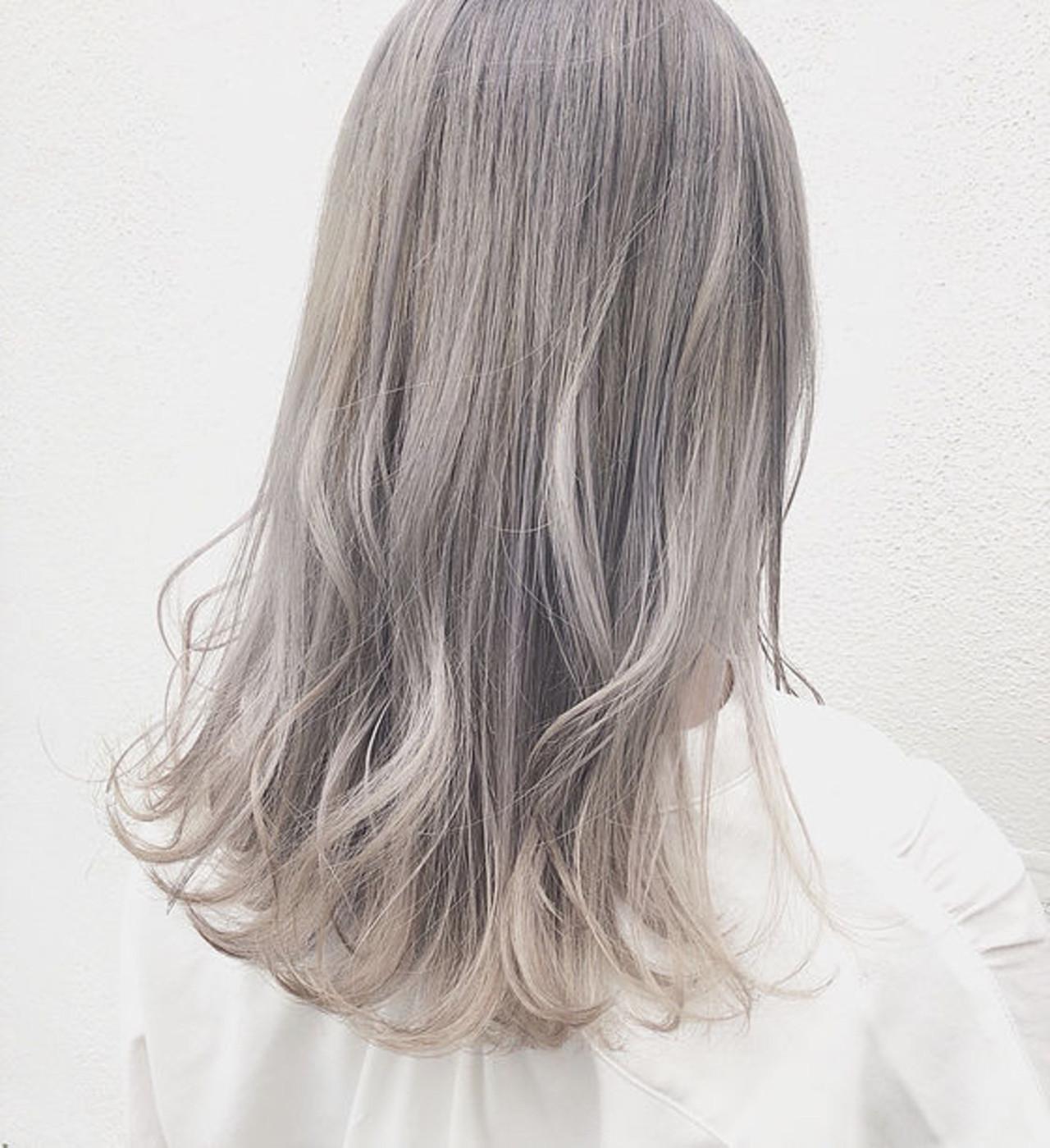 毛先をポイントにしたヘアスタイル