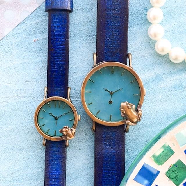 ステンドガラスのカラフルな手づくり腕時計さん