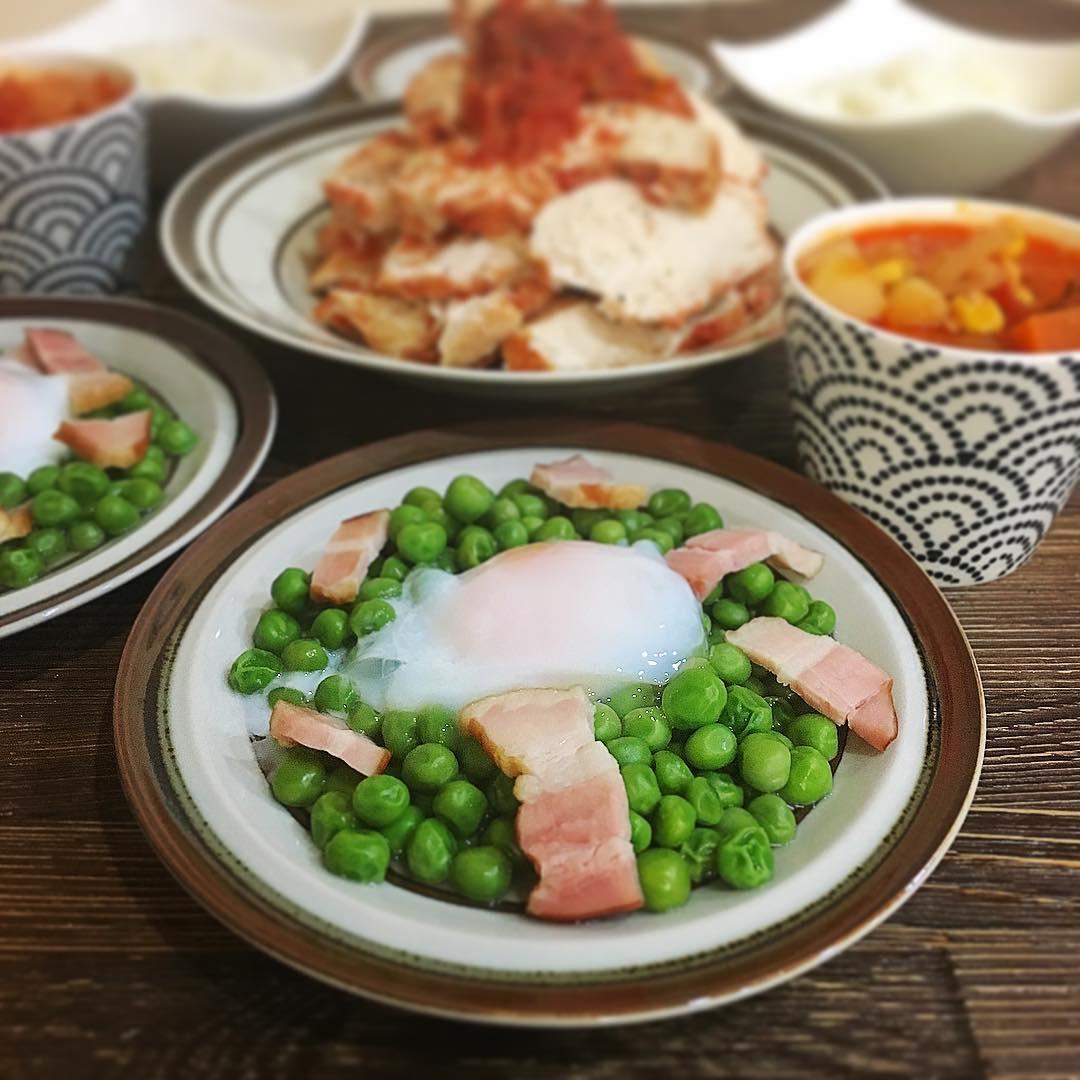 :柔らか青豆の温サラダ