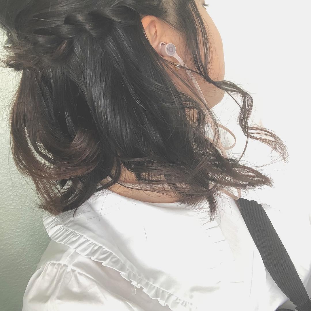 ♡髪を結んだ跡も気になるから