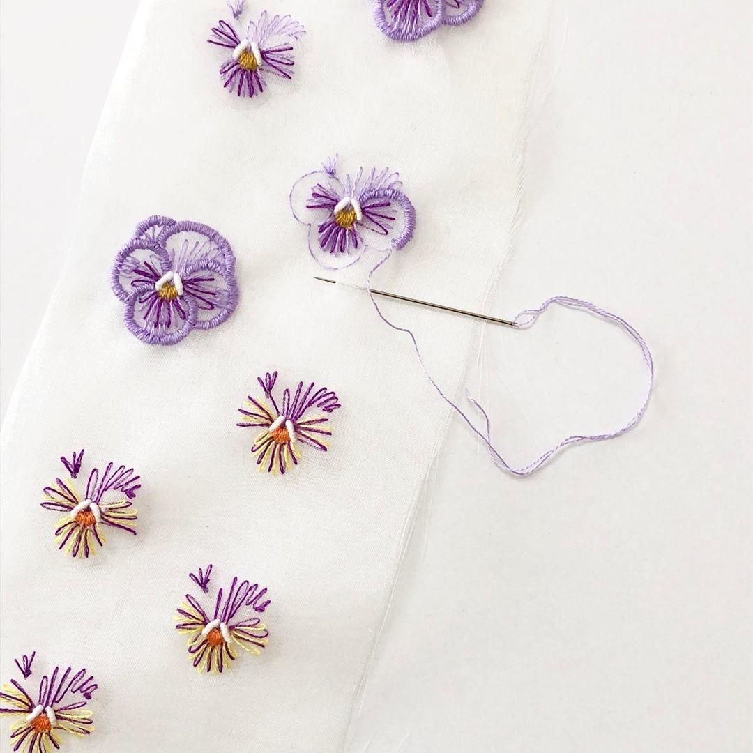 3:オーガンジー刺繍