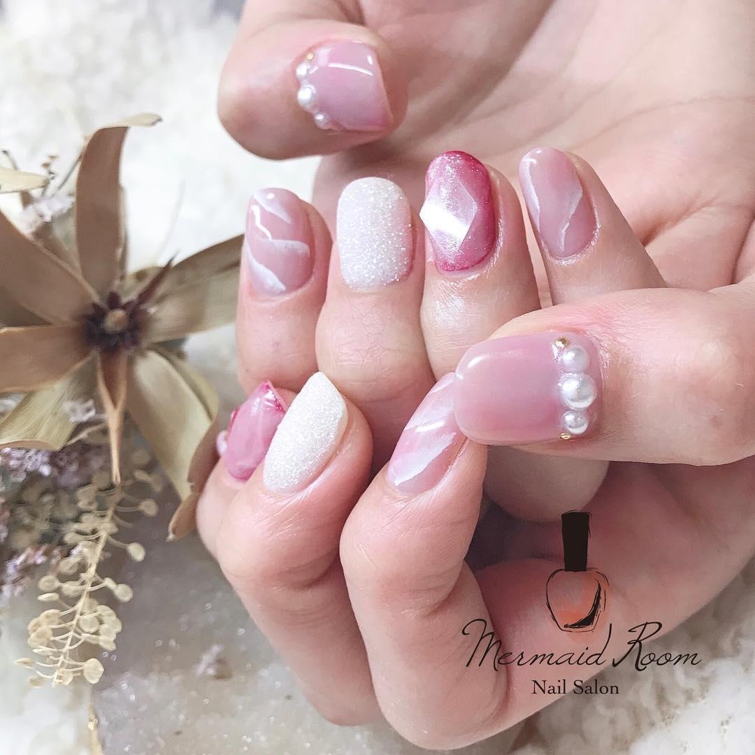 :春のピンクネイル10選