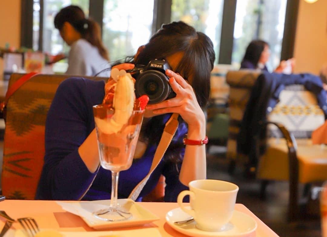 撮影している私を撮影