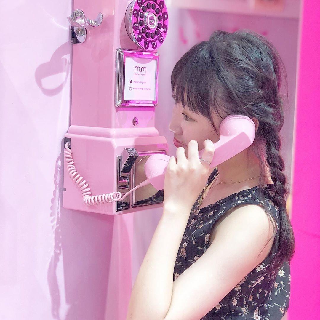 |女の子心をくすぐるピンクの電話機
