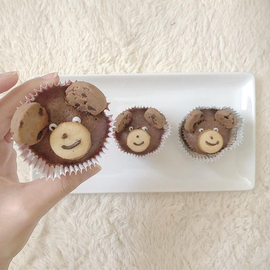 くまちゃんのチョコレートマフィン