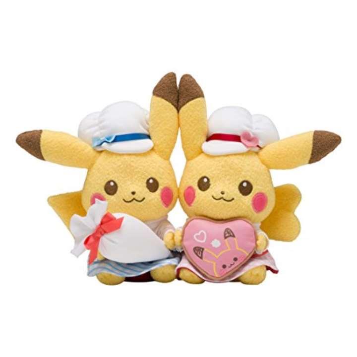 ポケモンセンターオリジナル ぬいぐるみ Pikachu's Sweet Treats ペアピカチュウ
