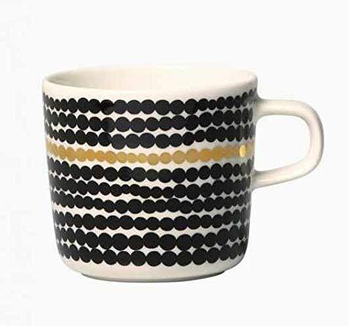 マリメッコ コーヒーカップ SIIRTOLAPUUTARHA ホワイト×ゴールド×ブラック