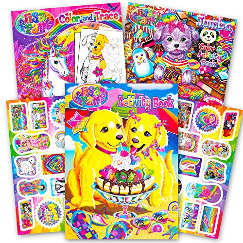 Lisa Frank Colouring Book and Stickers Super Set