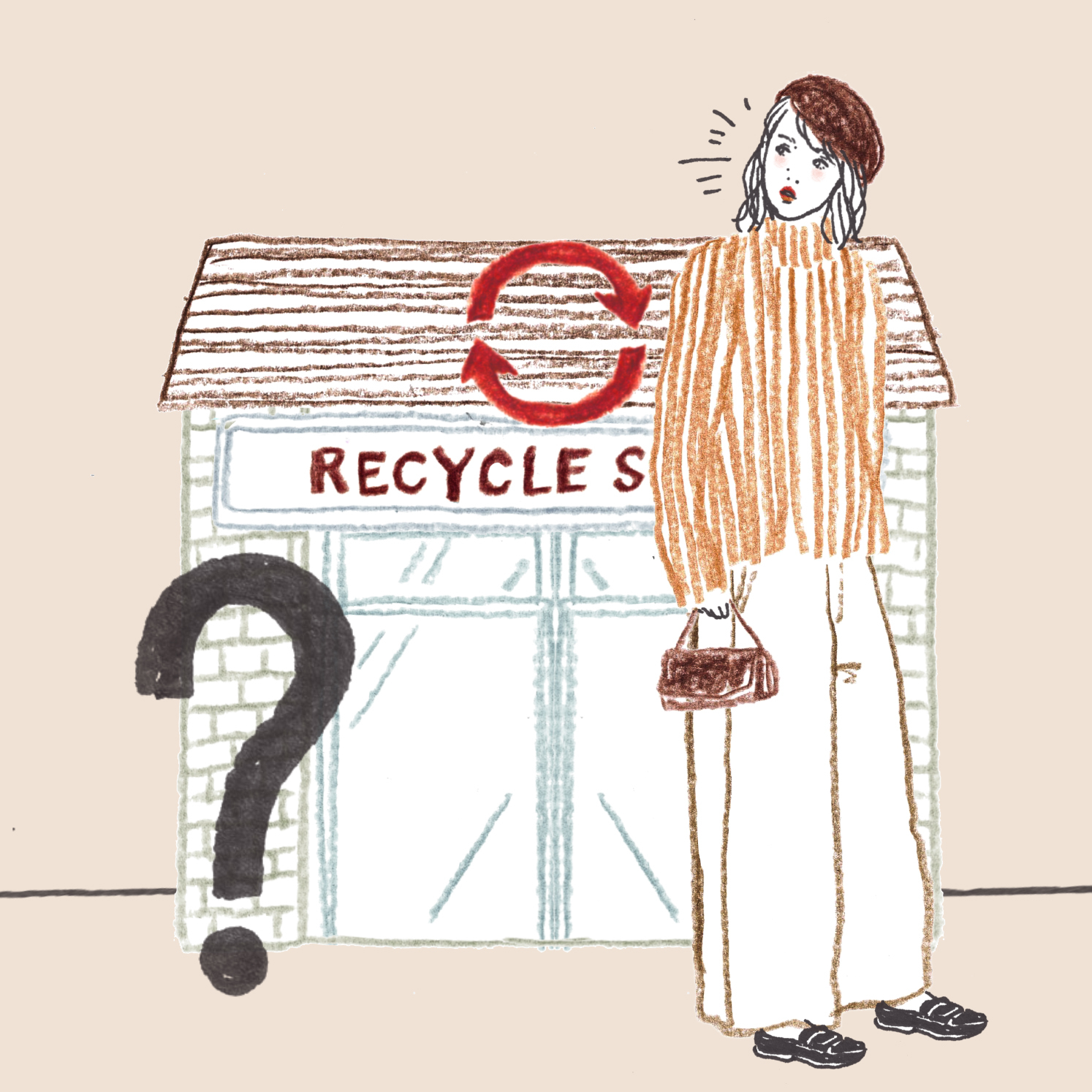 Q:リサイクルショップの前を通りました。店頭に出されていた物は次のうちどれですか?