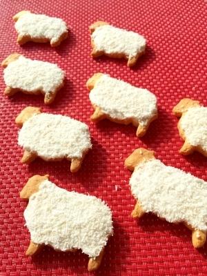 サンタさんへ♪ひつじのレモンアイシングクッキー
