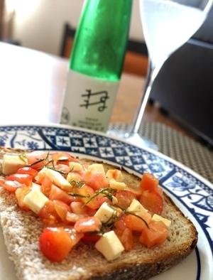 週末ブランチに、さくらんぼとトマトのタルティーヌ