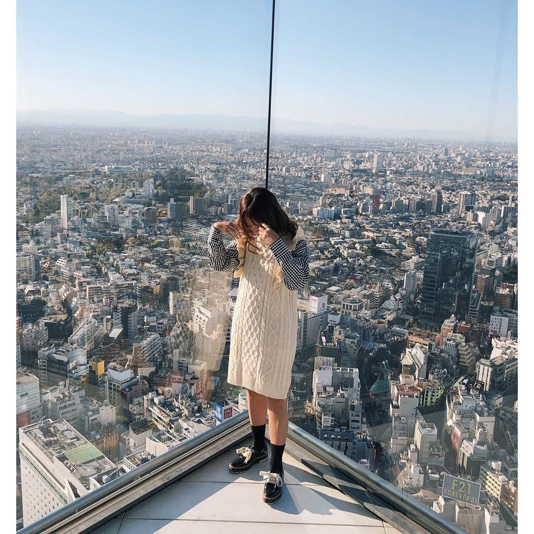 渋谷の街が一望できるよ!