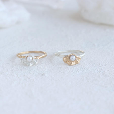 Frill Pearl Ring(Silver/Gold)