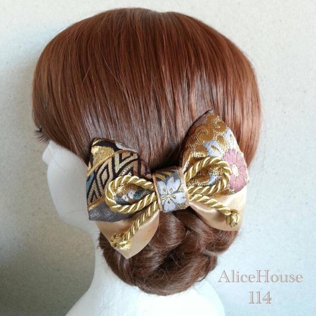小さめリボン 和装用髪飾り