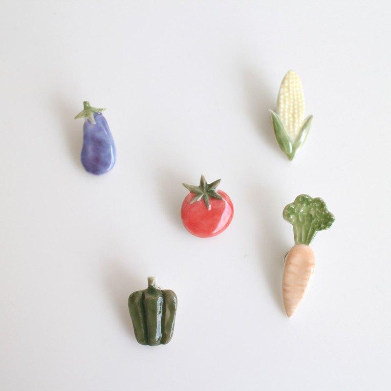 Vegetable pin brooch