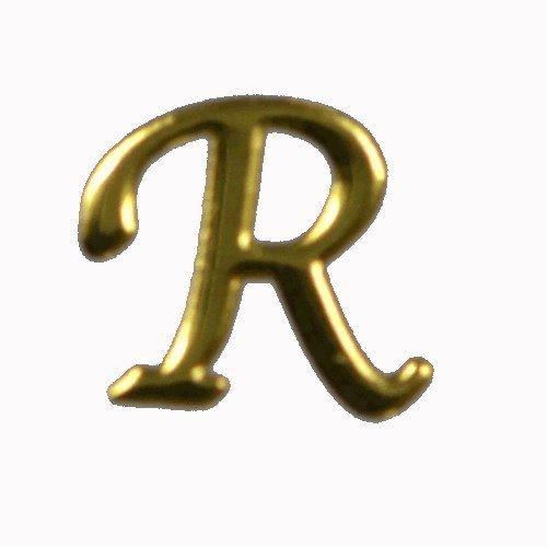 アルファベット 薄型メタルパーツ