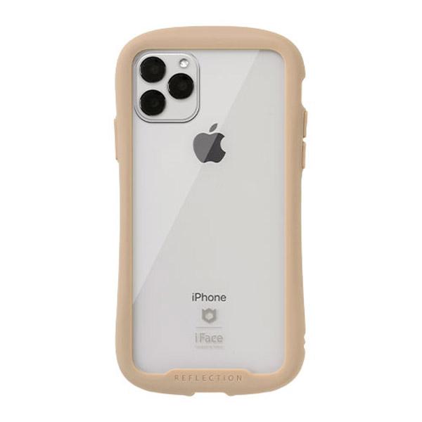 Hamee iPhone 11 Pro Max 6.5インチ iFace Reflection強化ガラスクリアケース ベージュ