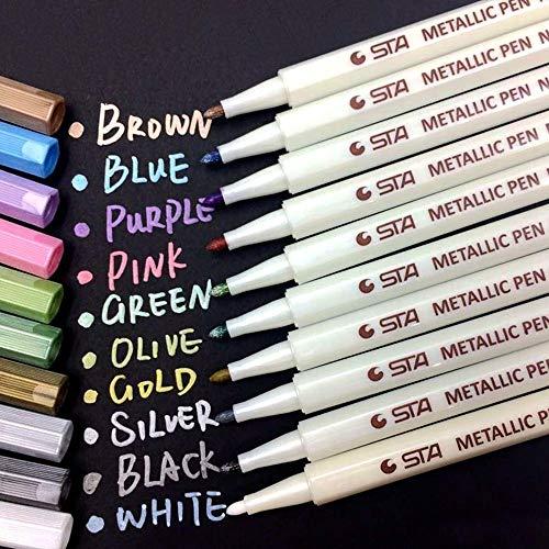 メタリック マーカーペン 10色セット