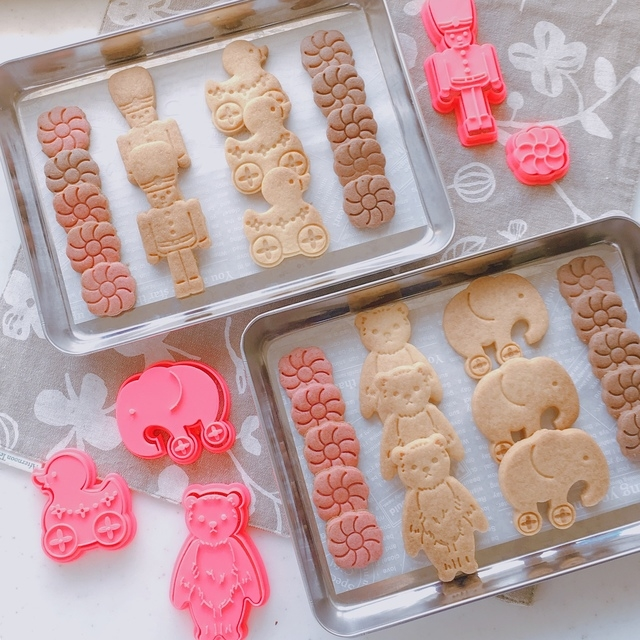 ポンっと押したら可愛い模様に♡スタンプクッキー型でほっこりおかし作りstart