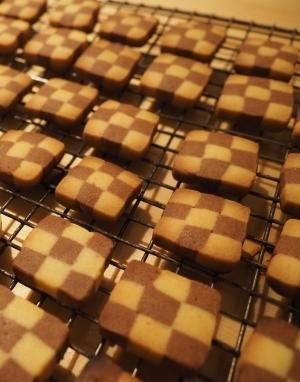 アイスボックスクッキー☆市松模様