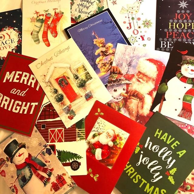 クリスマスカードに気持ちを込めて