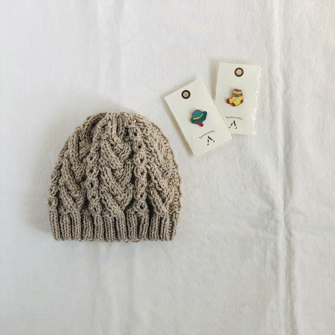 ハンドメイドニット帽