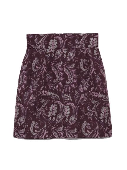 ジャガードミ二スカート