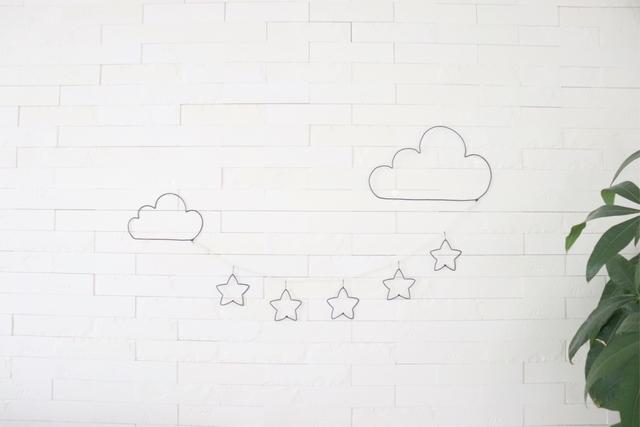 雲と星☆ワイヤーアート