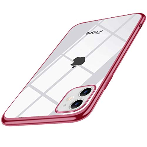 iPhone 11 ケース クリア ローズゴールド