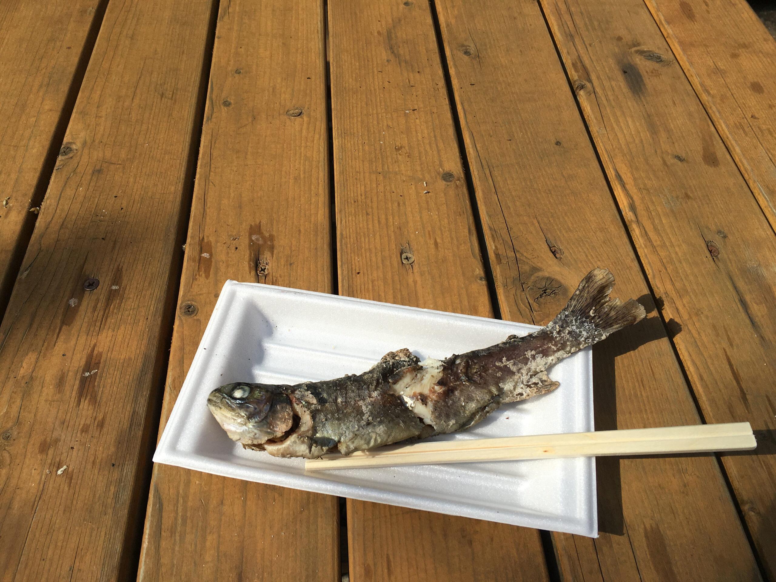 箸の入れ始め:魚の中央