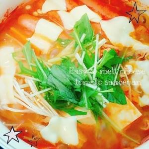 簡単うま~♡チーズとろ~り!トマト鍋♡