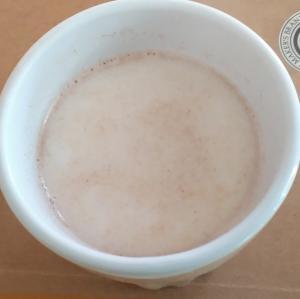 ホッと一息。チャイ風ミルク。シナモン、ナツメグで。