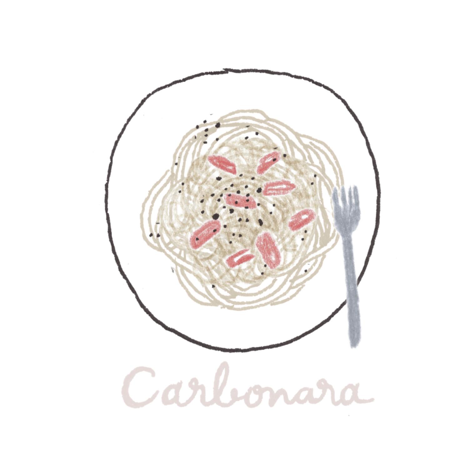 C:カルボナーラ