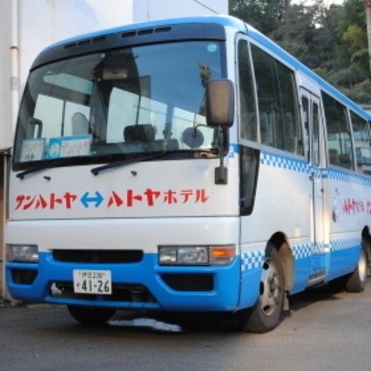 専用バスで移動も楽々