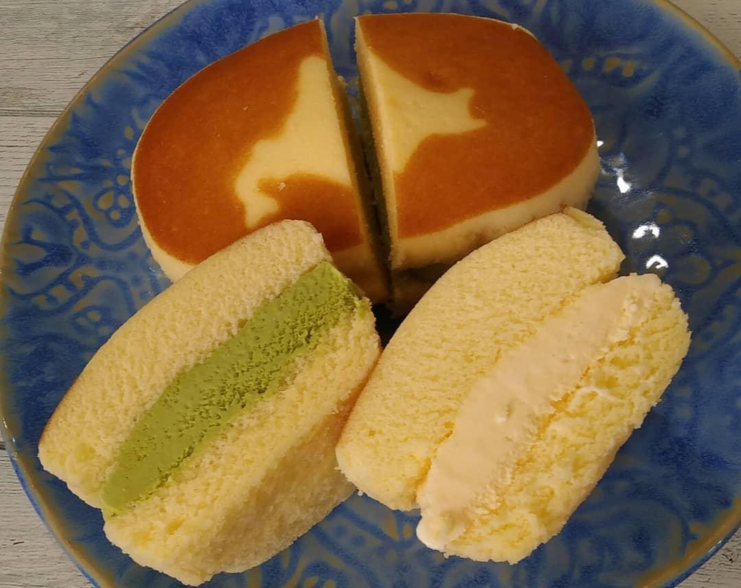 チーズ蒸しパン×アイス
