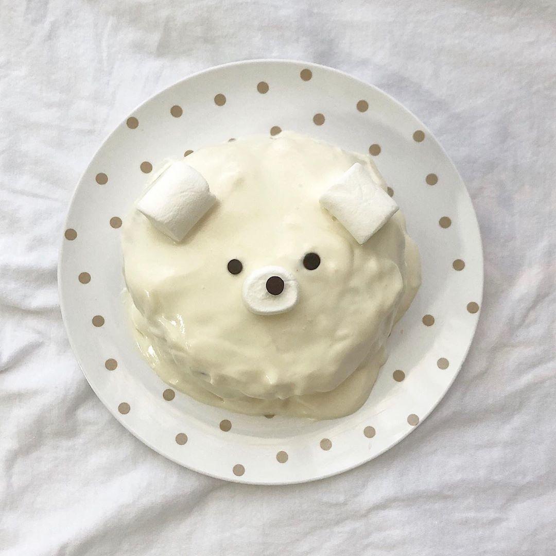 おうちカフェでくまパンケーキ