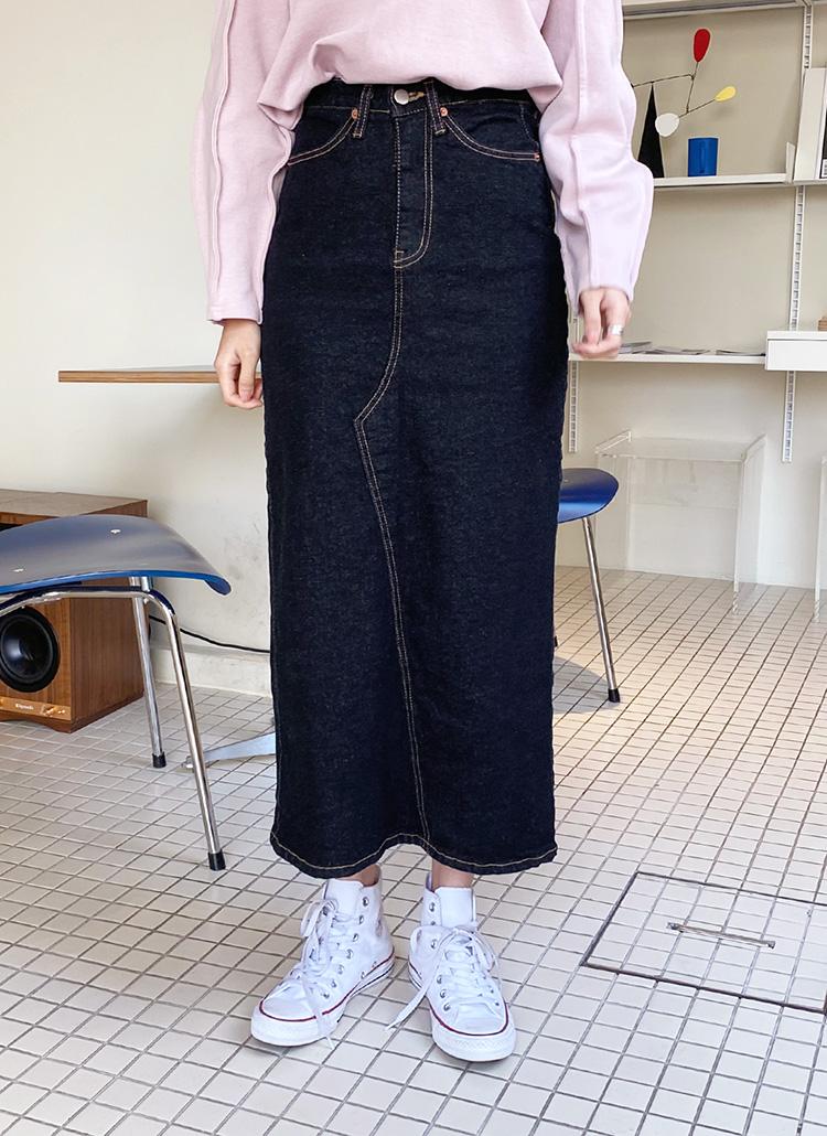 デニムスリットスカート