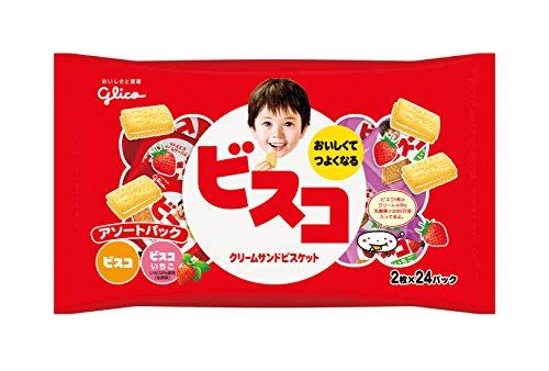 江崎グリコ ビスコ大袋 アソートパック 48枚
