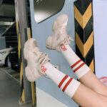 やっぱプチプラでなきゃ!2,500~5,000円のダッドスニーカーと靴下の合わせ方