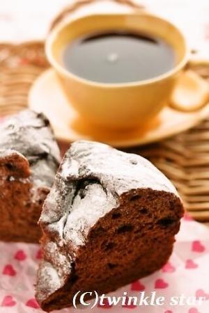 ストウブで♪ココアとチョコのリングパン