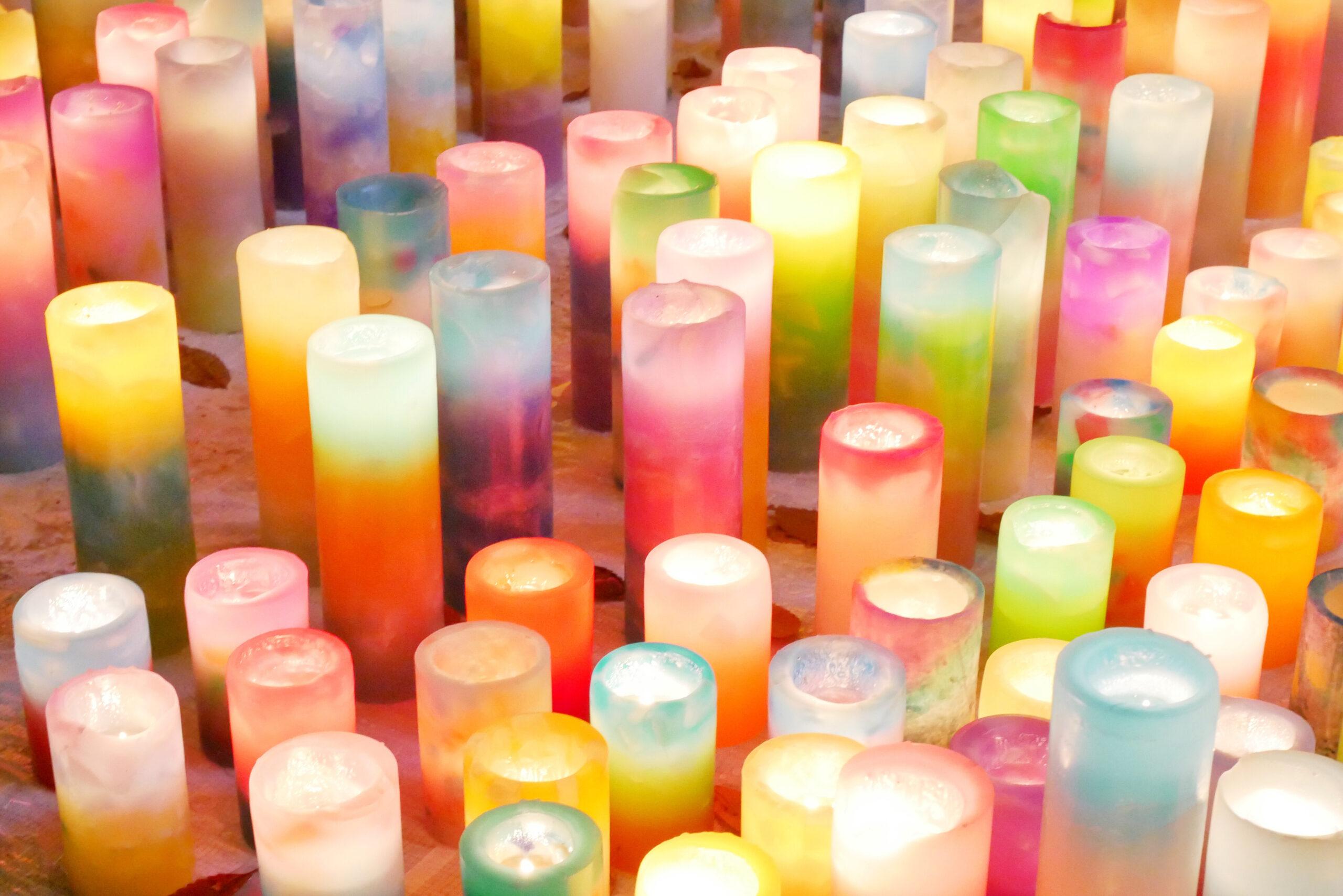 キャンドルで柔らかな灯と共に癒やされる
