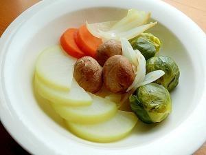 ヘルシー❤芽キャベツ&マッシュルームの蒸し野菜♪