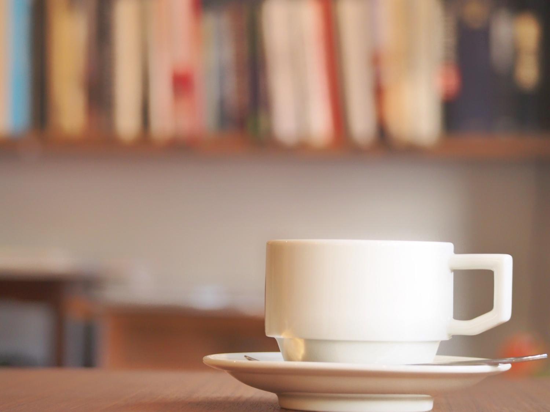 コーヒーの香りを楽しみながら