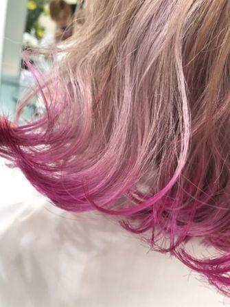 毛先カラーはPINKで決まり!