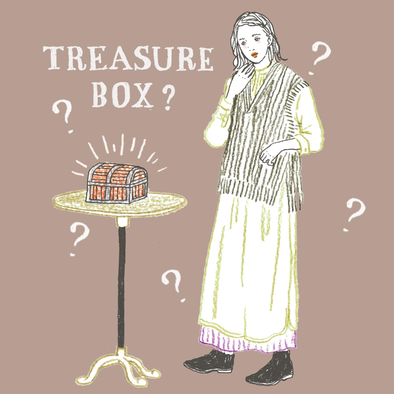 Q:小さな宝箱のようなものが机の上にあります。開けると・・・?
