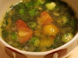 夏野菜deねばねばスープ*カレー風味★ヴィーガン★
