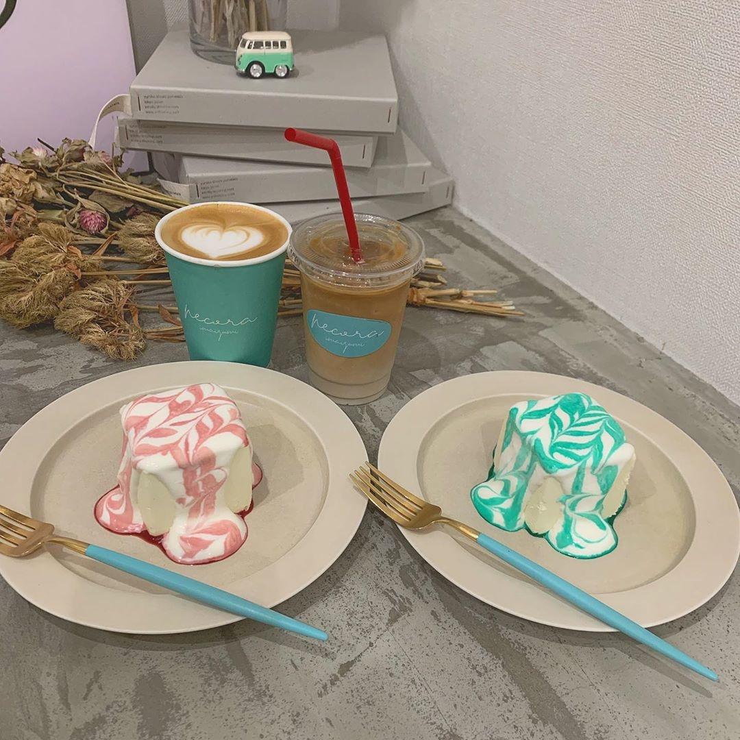 福岡の、不思議なケーキのお店のドリンク